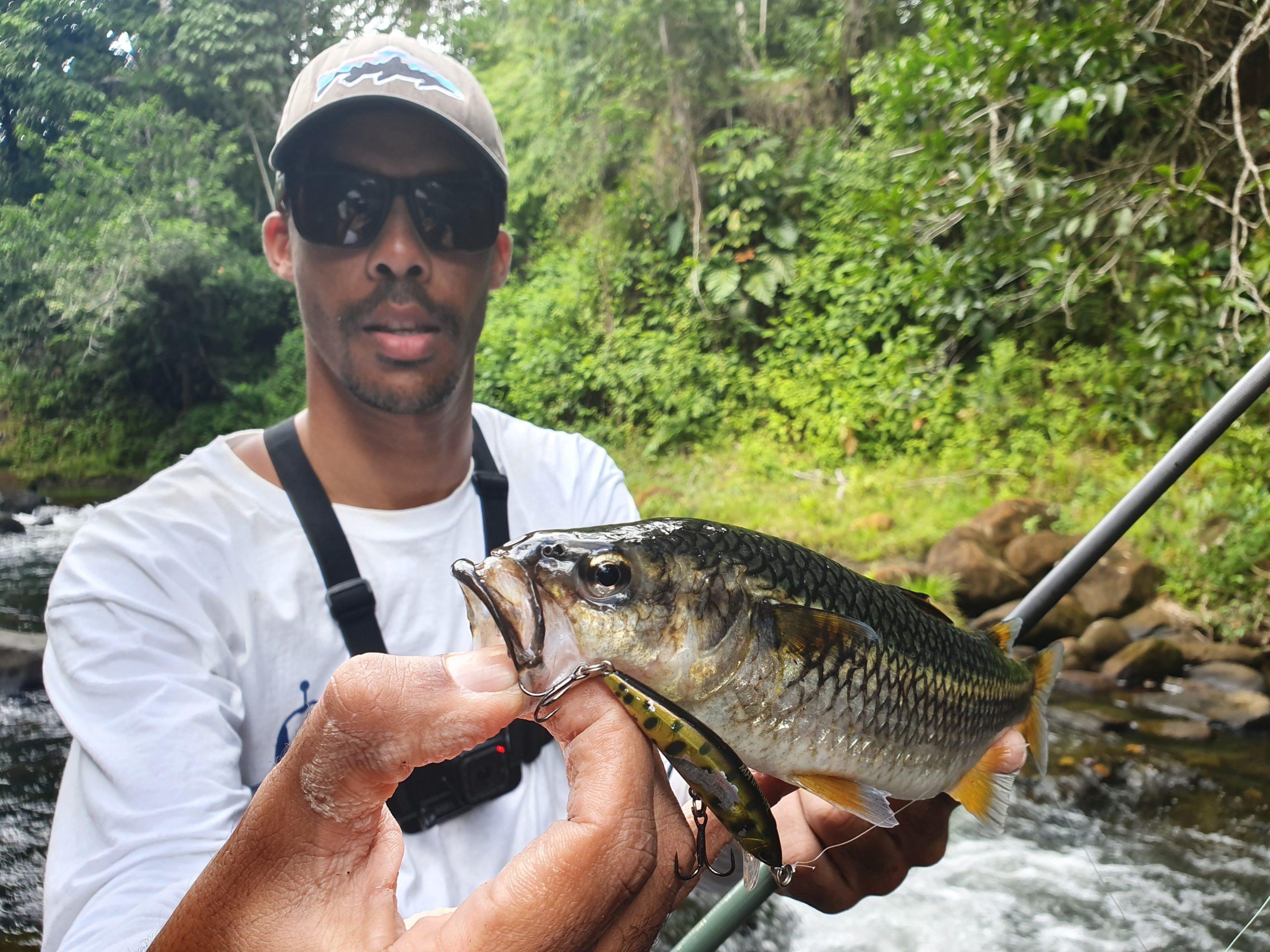 Pêche en Guadeloupe en rivière